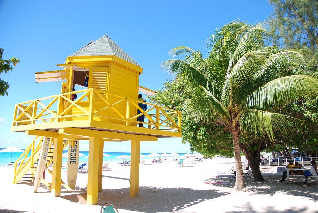 Strandabschnitt auf Barbados