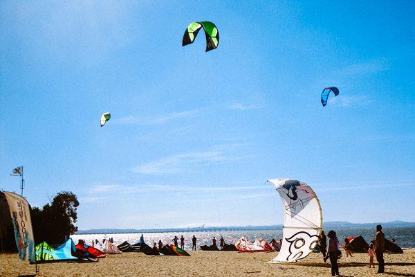 Kitesurfer in Alochete