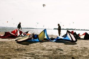 Kitesurfer auf Sizilien
