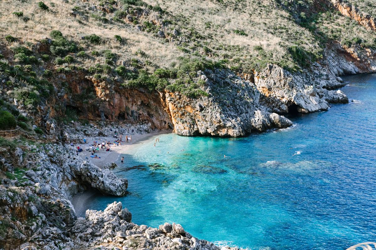 Eine Lagune auf Sizilien